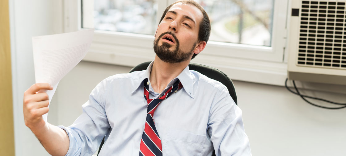 man at point of dying from heat